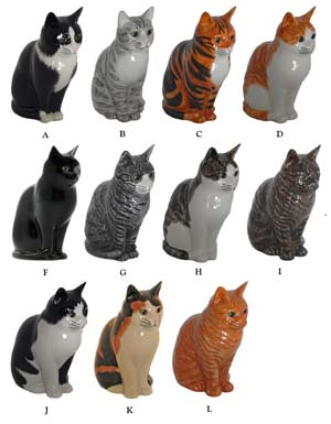 Option 15. The porcelain cat statues