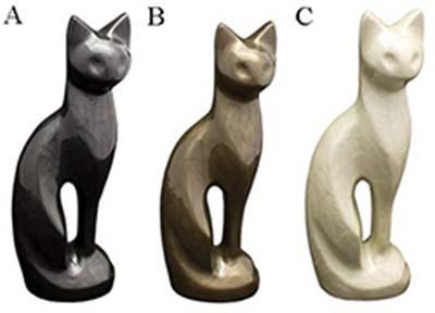 Option 17 Brass Cat Statue Urn