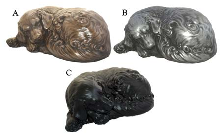Option 19 - resin Sleeping Dog Urn